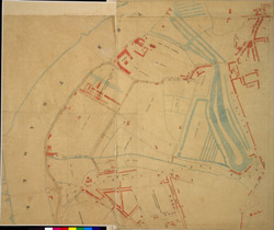 [Plan of the estate belonging to Lord Grosvenor, showing proposed lines of streets and buildings in Pimlico]